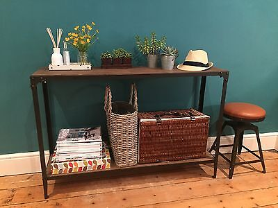 Console Table Urban Vintage Industrial Rustic Aged Rust colour finish