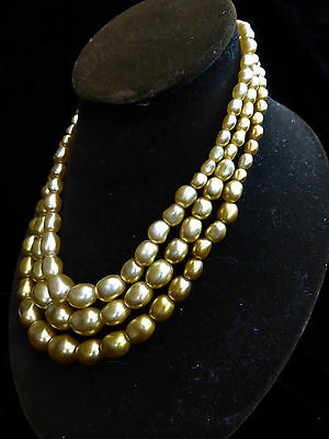 Vintage, pretty 1950s(?) glass 'pearl' necklace 170228
