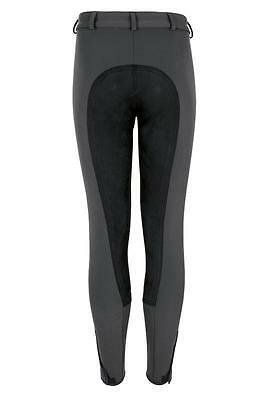 Pikeur Lugana Breeches Anthracite/black Free P&p *clearance*