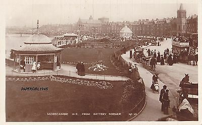 Morecambe From Battery Corner Real Photograph Postcard c.1916