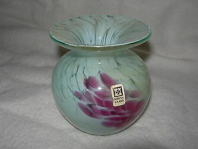 "Collectable Mdina Glass Vase 4"" Tall VGC (WH_0002)"