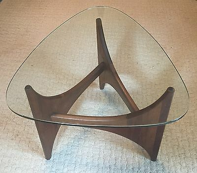 Adrain Pearsall Mid Century Modern Glass Top Side Accent Table see Description