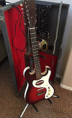 FINAL DAYS Vintage Sears SILVERTONE Model 1457 Guitar withTube Amplifier final days~vintage~sears silvertone model 1457 guitar withtube