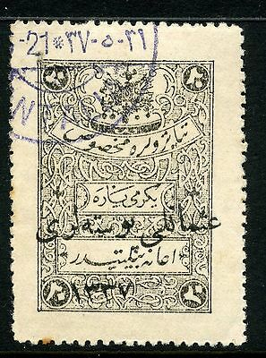 Turkey 1920 Angora Nationalist Govt overprinted fiscal stamp SG A64 fine used
