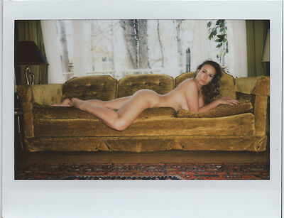 OOAK Original Instax Wide Polaroid Photo - Nude Naked Woman Brunette