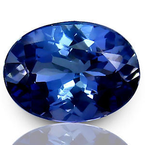 1.19 Carat Wonderful  Natural Purplish Blue Oval Cut Tanzanite