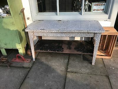 Antique Cast Iron And Enamelled Table Dining Side Old Range