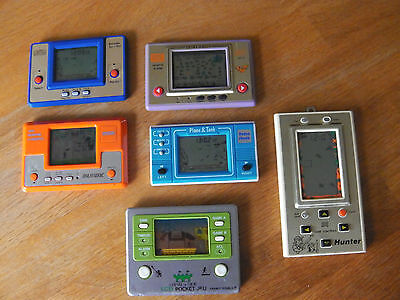 Lcd game Lot 6 jeux électroniques game watch