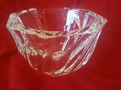 Orrefors Signed Crystal Bowl by Olle Alberius