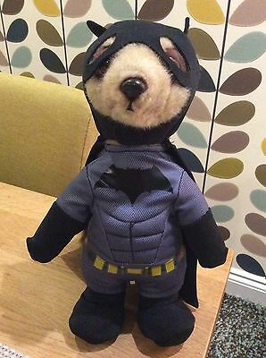 """10"""" official Meerkat In Batman Outfit Soft Toy"""