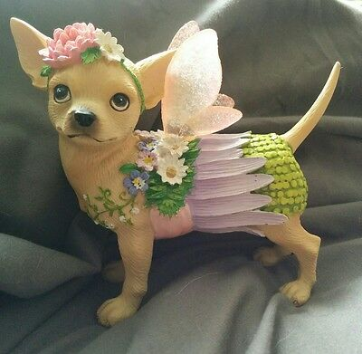 Aye Chihuahua Spring-Figurine-Angel Wings-Westland-Retired-Rare