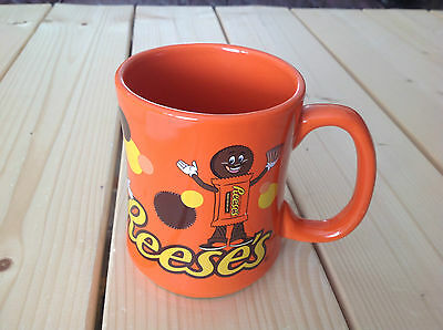 HERSHEY'S 2014 REESES PEANUT BUTTER CUPS XL JUMBO ORANGE MUG Mint Condition!