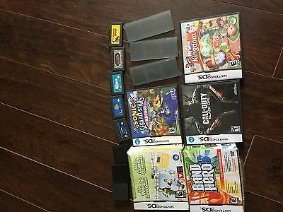 10 ds and gameboy advance games and cases lot