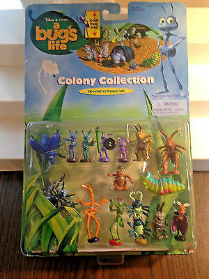 Disney Pixar A Bug's Life Vtg 15 Figure Pack Mattel1998 Colony Collection