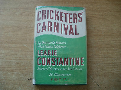 Old Cricket Book-Cricketers Carnival-Learie Constantine