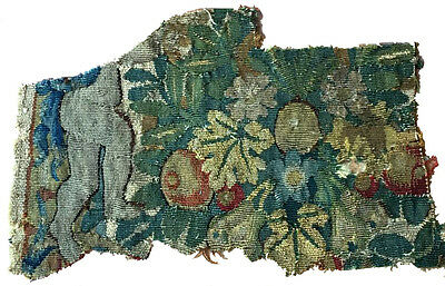 A Cute Antique Tapestry Fragment Depicting Legs of a Putti