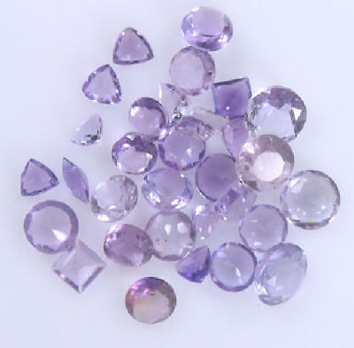 Assorted Cut Round, Trillion, Square, Marquise Amethyst 11.35 Carats