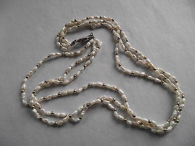 Vintage Freshwater Pearl Three Strand Necklace