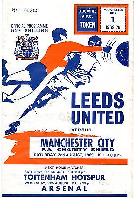 LEEDS UNITED v MANCHESTER CITY FA CHARITY SHIELD AUGUST 1969