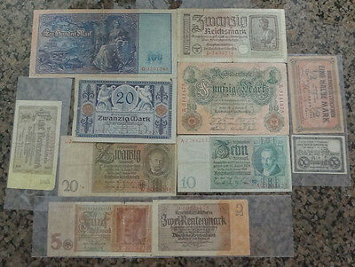 german empire and third reich ww2 banknote lot