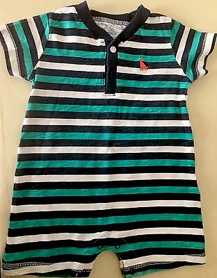 Baby Boy Clothing Striped One Piece Outfit Sz 9 Months