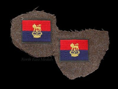 Pair of War Office Controlled Units Arm Badges Patches Formation Signs