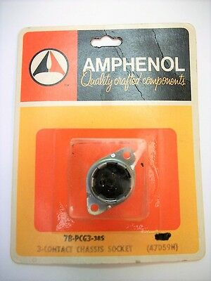Amphenol 78-PCG3 - 78 Series 3 Contact Chassis Mount Female Jack Socket