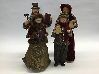 Victorian Caroler Christmas Family Of Four Carolers