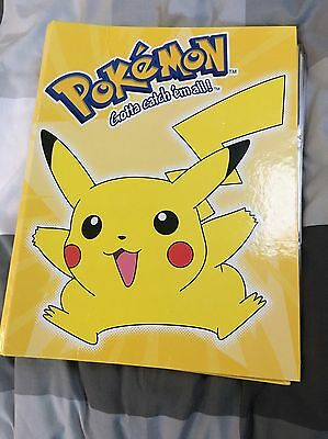 Original Pokemon Cards FULL SET in Folder includes RARE SHINY CARDS