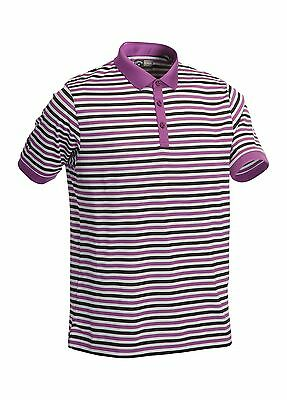 Callaway Golf Chev Striped Polo Shirt Violet Medium