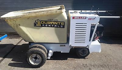 Miller Concrete Buggy MB11 - Walk Behind Power Buggy 8 Cu Ft Poly - Honda Engine