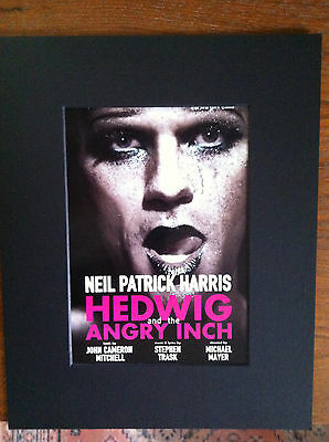 Hedwig and the Angry Inch  musical 2014 ad/flyer  matted Neil Patrick  Harris