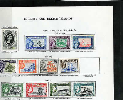 GILBERT & ELLICE 1953-56 collection ,values to 10/-