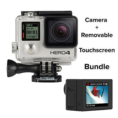 GoPro HERO4 Black Action Cámara  Reacondicionado Certificado + LCD BacPac Bundle