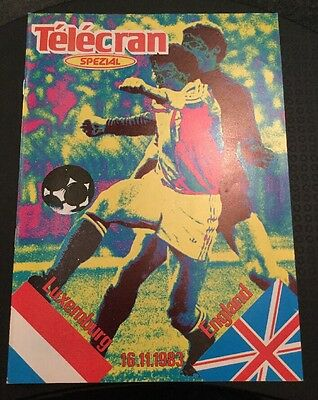 Luxembourg v England 16/11/83 European Championship