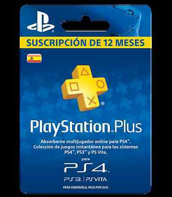 Playstation Plus 1 Año Entero Suscripcion Psn