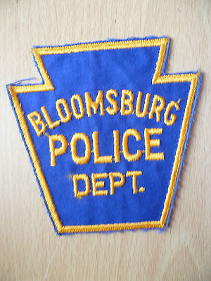 Patches: BLOOMSBURG POLICE DEPT PATCH (NEW,approx.4 x3.14 inch)