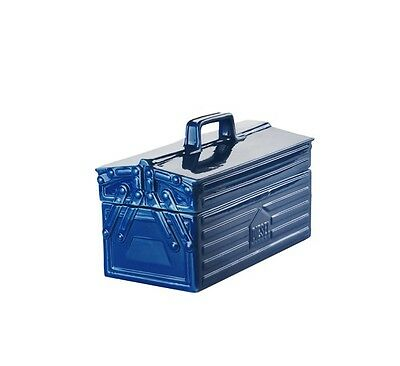 """BRAND NEW! Seletti Tool Box - Designed By Diesel """"Work is Over""""  Stoneware Blue"""