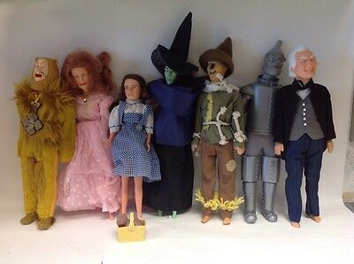 Vintage Multi Toys Wizard of Oz Dolls Large Set