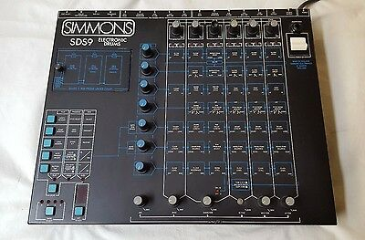 Vtg SIMMONS SDS9 Electronic Drums MIDI Drum Machine Programmable + 3 FREE PROMS