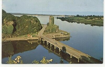 FERRYCARRIG CASTLE Co. Wexford Ireland old Plastichrome Postcard used 1970s