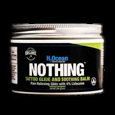 H2Ocean Nothing Tattoo Glide and Soothing Balm Lidocaine organic 200g 7 oz