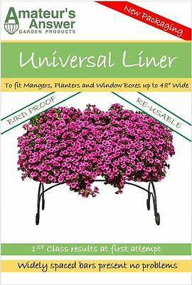"""Universal Planter, Trough, Manger & Window Box Liner - Planters up to 48"""" Wide"""
