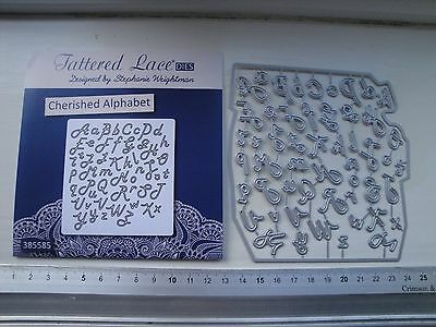 Tattered Lace: Die Cutter: Cherish Alphabet (upper and lower case)