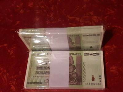 1-Zimbabwe 50 Trillion Bank Notes Un-Circulated 2008 (Can Bundle For A Discount)