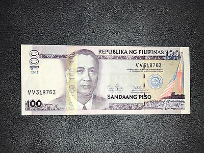 100 Piso, Philippine banknote 2012, World Money, Foreign Currency, VERY CRISPY