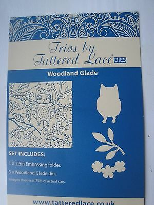 Tattered Lace: Die Cutter & Embossing Folder: Trios: Woodland Glade (Owl)