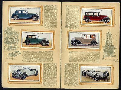 """1936   Players   """"motor   Cars   A   Series""""   Complete   Set   (50)  In  Al8Um."""