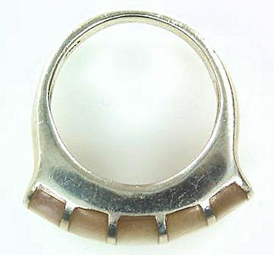 Attractive  Mother of Pearl Estate Ring in .925 Silver