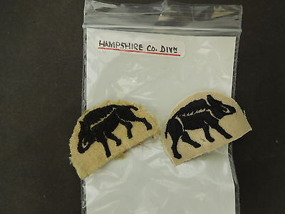 2 Hampshire Company Division Shoulder Title Patches